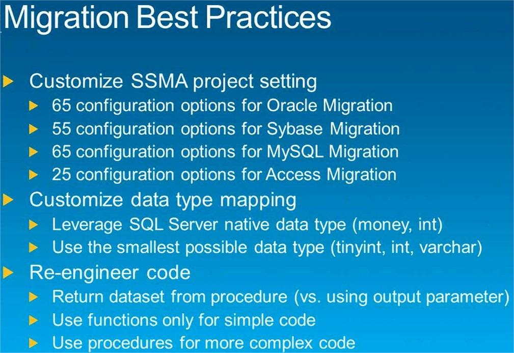 SSMA-SQL Server Migration Assistant – (B)usiness (I