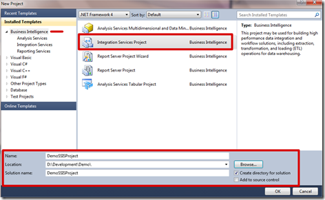 MSBI # 6– SSIS # 2- Get familiar with BIDS–SSIS ? – (SQL Server Integration Services) (1/6)