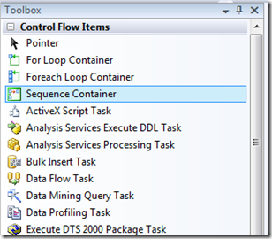 MSBI # 24 – SSIS # 11 – Control Flow Tasks # 6 – Sequence Container Task (1/6)