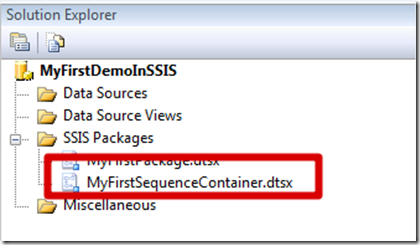 MSBI # 24 – SSIS # 11 – Control Flow Tasks # 6 – Sequence Container Task (3/6)