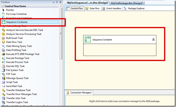 MSBI # 24 – SSIS # 11 – Control Flow Tasks # 6 – Sequence Container Task (4/6)