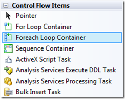 MSBI # 23 – SSIS # 10 – Control Flow Tasks # 5 – For Each Loop Container Task (1/6)
