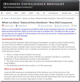 MSBI #76 – SSIS #34 – Balance Data Distributor (BDD) – Download