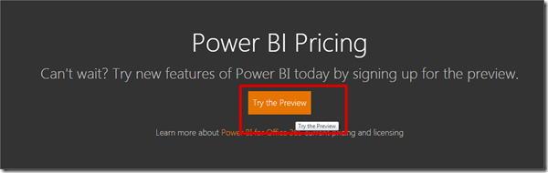 Power BI #4 -  How to Register and Sign Up for Power BI Preview (1/6)