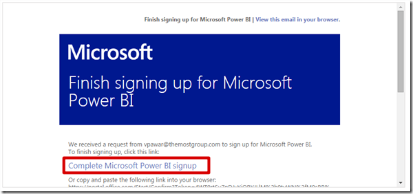 Power BI #4 -  How to Register and Sign Up for Power BI Preview (6/6)